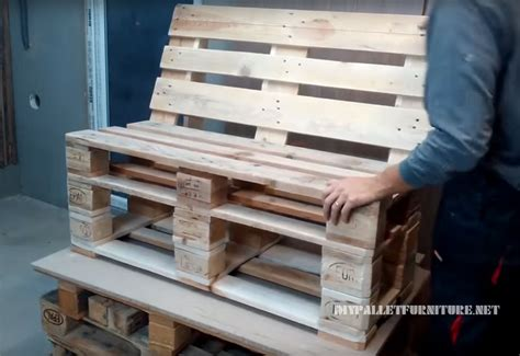 how to build pallet couch how to make a sofa with pallets 1diy pallet furniture
