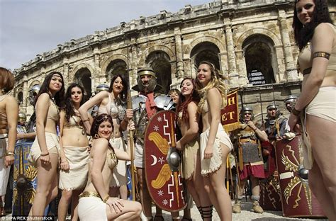 celebrity martyr meaning roman gladiators return to nimes in france daily mail online