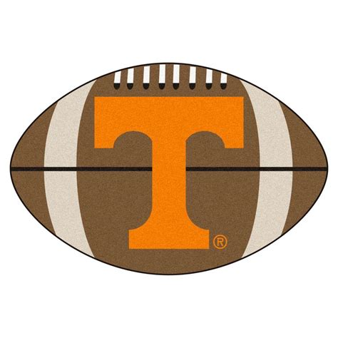 tennessee vols rug fanmats ncaa of tennessee brown 1 ft 10 in x 2 ft 11 in specialty accent rug 4375