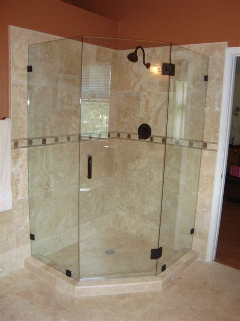 Angled Glass Shower Doors Frameless Shower Doors
