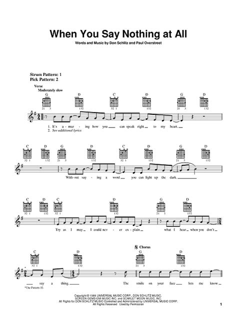 tutorial guitar when you say nothing at all when you say nothing at all sheet music for piano and
