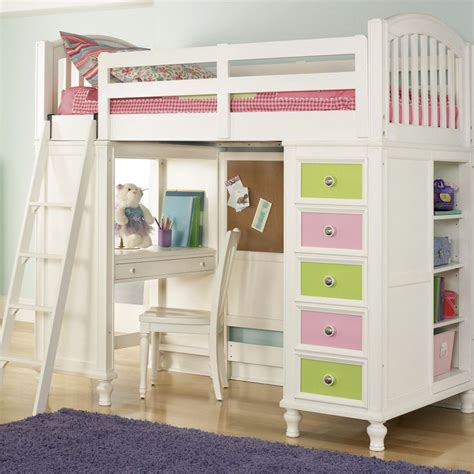 Build A Bear By Pulaski Pawsitively Yours Twin Loft Bed Loft Bed With Desk And Storage