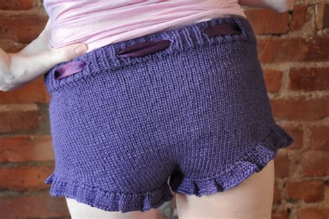knitted shorts pattern free purple knitted shorts with ruffle knitting is awesome