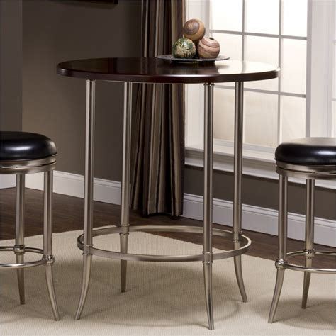 Espresso Bistro Table Maddox Bar Height Bistro Table In In Espresso And Nickel 5173 840
