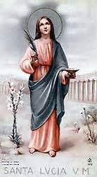 oracion a santa lucia patrona de la vista oraciones a santa luc 237 a