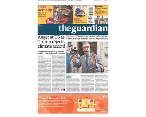 News Roundup New Climate Pact Bad News For Sea Levels And More by Newspaper Front Pages Day After Donald Pulls U S