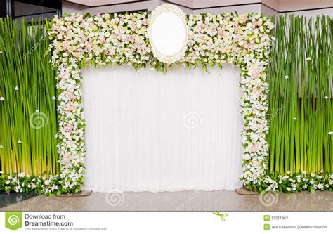 Wedding Banquet Backdrop by Wedding Backdrop Stock Photo Image 55211963