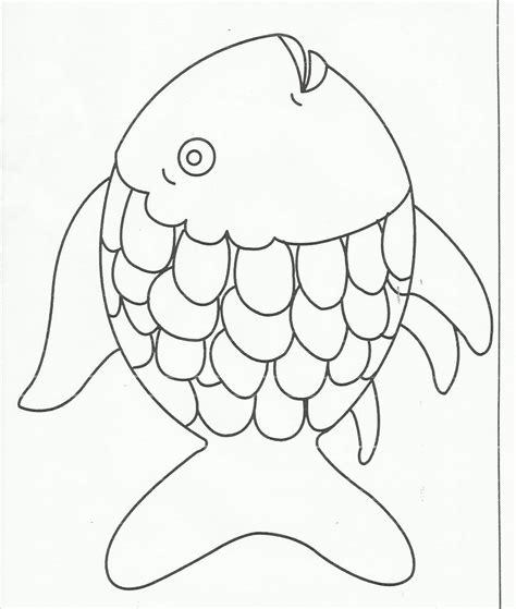 fish pattern for kindergarten rainbow fish preschool templates bubbles pinterest