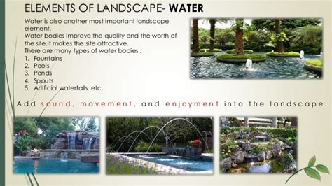 elements of landscape design