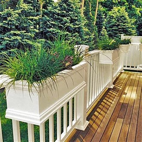 Planter Boxes For Balcony Railings by Best 25 Deck Railing Planters Ideas On Railing Planters Balcony Railing Planters