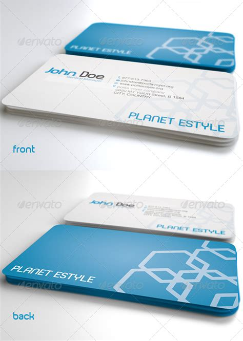 easy business card template simple business card template graphicriver