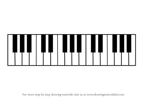 keyboard instrument tutorial step by step how to draw piano keys drawingtutorials101 com