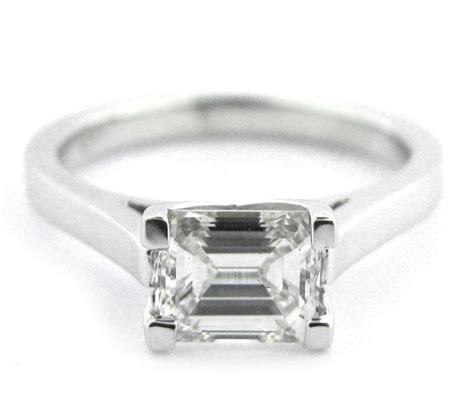 182 horizontal emerald cut ring rectangular