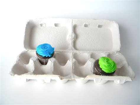 How To Make Egg Trays From Recycled Paper - 6 recycled paper pulp egg cartons that split into 2 cartons