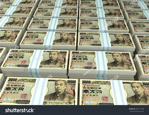 kakebo the japanese of saving money discover the path to balance and calm books 3d stack piles of japan money stock photo 269177180