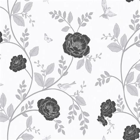 black and white wallpaper wilko wilko rosanna floral black white wpaper deal at wilko