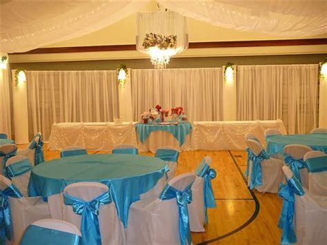 Decorating a gym for a wedding reception   band banquet