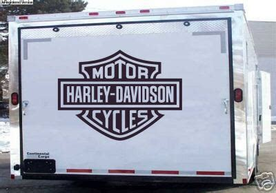 Harley Davidson Trailer Decals by Harley Davidson Trailer Wall Or Garage Door Decals