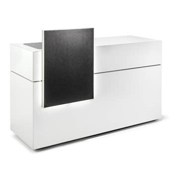 Vogue Reception Desk Salon Reception Unit Derma Contour