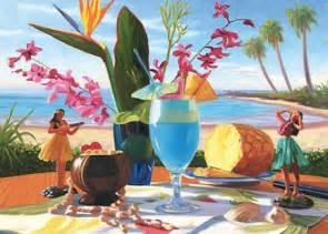 hawaiian happy birthday greeting card blue hawaiian