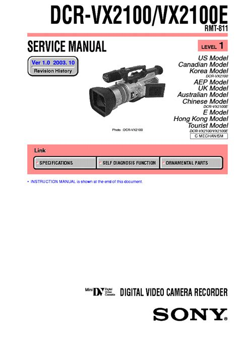 Kamera Sony Vx 2100 sony hdr fx1 level 1 2 service manual schematics eeprom repair info for electronics