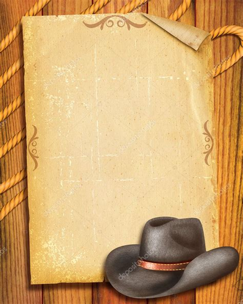 imagenes vaqueras para editar cowboy old paper background with hat for text stock