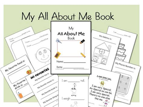 all about me book template learn and grow designs website my all about me book
