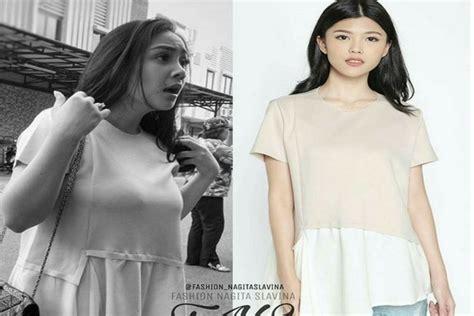 Nagita Slavina Grey ingin til cantik dengan fashion relatif terjangkau