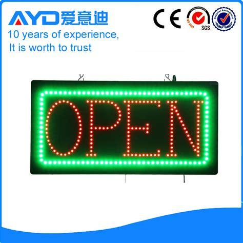Led Sign Open dongguan led electronics co ltd ayd provide led signs