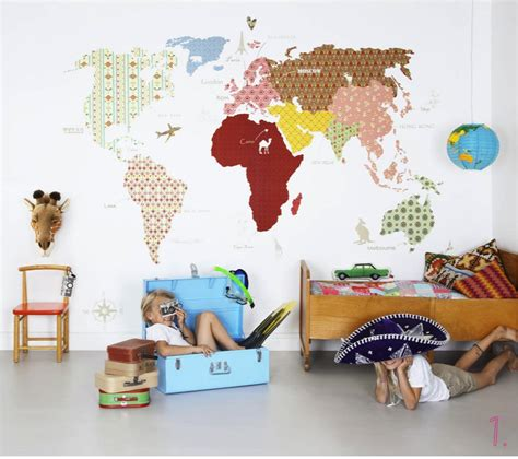wallpaper childrens room ebabee likes maps for kids rooms