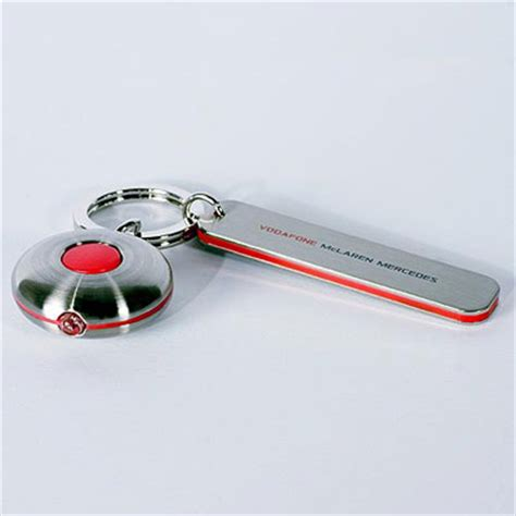 mclaren mercedes f1 key chain with led light