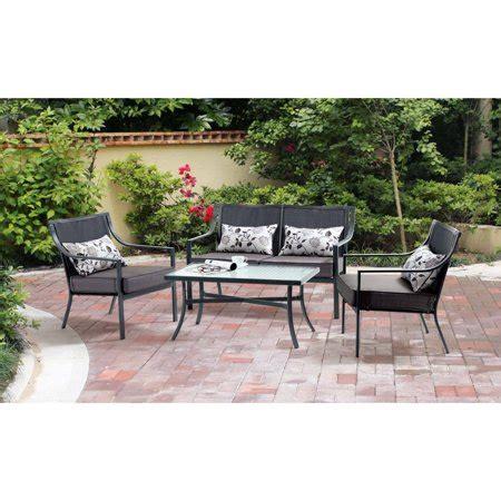 mainstays alexandra square  piece patio conversation set