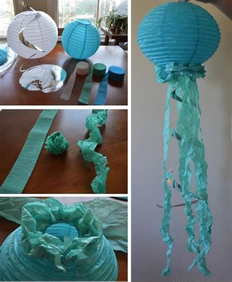 How To Make Paper Decorations For Baby Shower - paper lantern jellyfish for an the sea themed baby