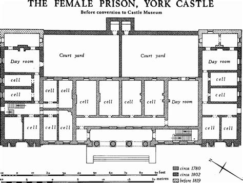 Online Floor Plan Layout by York Castle British History Online