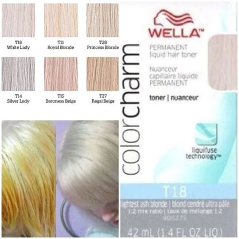 wella color charm toner t18 wella color charm permanent liquid hair toner t18 lightest