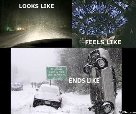 Driving In Snow Meme - driving in the snow