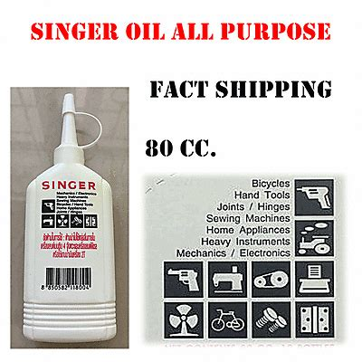 Minyak Singer All Purpose 80cc singer high qulity all purpose sewing machine tool industry lubricant what s it worth