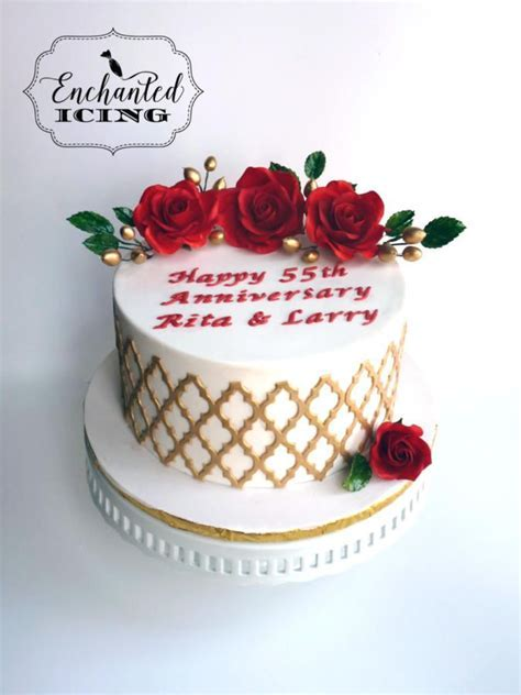 111 best Anniversary cakes images on Pinterest