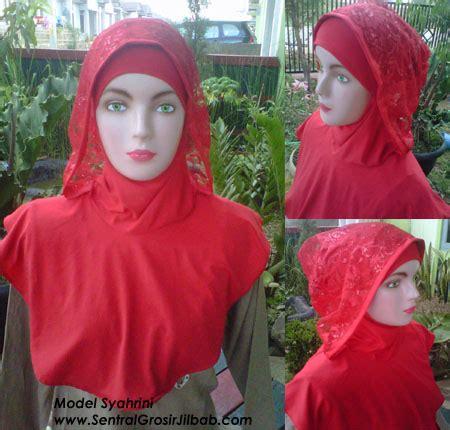 Jilbab Instan Brokat model jilbab instan syahrini my