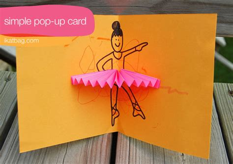 easy to make pop up cards diy fyi simple pop up card colour me there