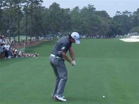 slow motion golf swing from behind rory mcilroy slow motion driver golf swing masters 2012