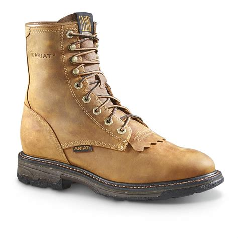 mens working boots ariat workhog s 8 quot lace up work boots 645364 work