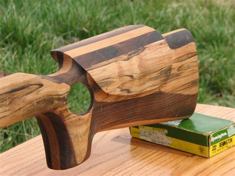 bench rest stock ambrosia maple walnut cherry benchrest rifle stock by