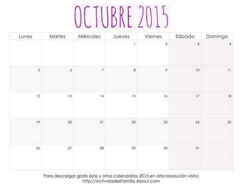 Calendario Octubre 2015 Para Imprimir Me Encantaron Estos Calendarios 2015 Para Imprimir Tienen