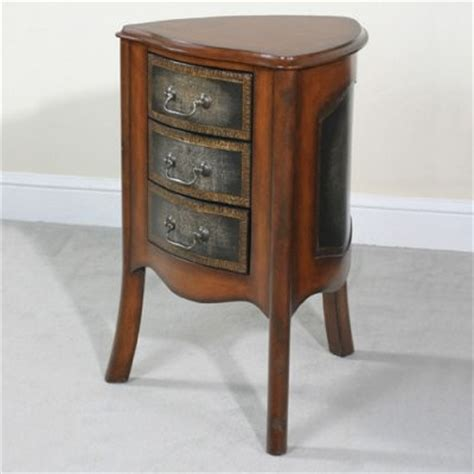 corner accent table with drawer drummond corner triangular end table with drawers modern