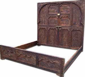 moroccan bed frame tribal king size bed frame
