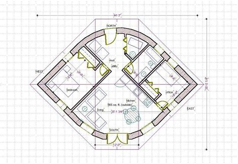 Straw Bail House Plans Straw Bale House Plan 670 Sq Ft Eye Shape Build It