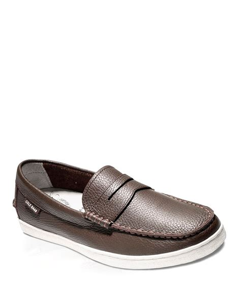 cole haan loafers for cole haan pinch lte leather weekender loafers in brown for