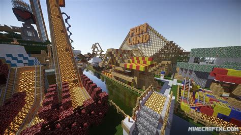 theme park names minecraft funland 3 adventure map for minecraft 1 8 1 7 minecraftxl