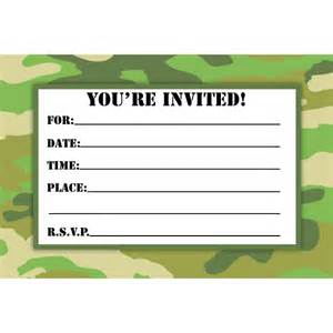 camouflage invitation template camouflage birthday invitations printable free